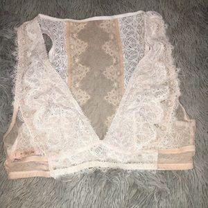 Victoria secret deep plunge lace bralette L NWT